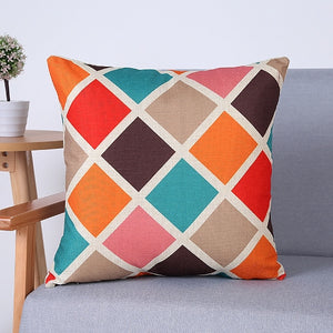 Decorative Pillow Cover Geometric Prints 18 x 18 inches