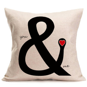 You & Me - Pillow Cover 18 x 18 Inches - Premium Pillow Store