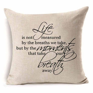 Pillow Cover Life is Not Measured by the Breaths we Take 18 x 18 Inches - Premium Pillow Store