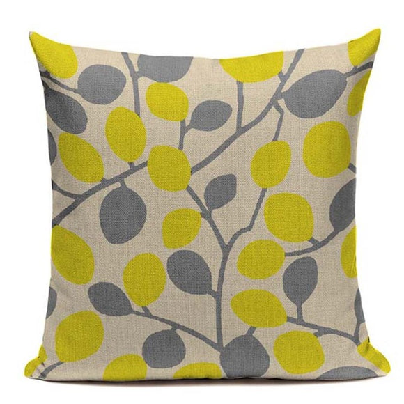 Fashionable Throw Pillow Cover Leaves 18 x 18 inch - Premium Pillow Store