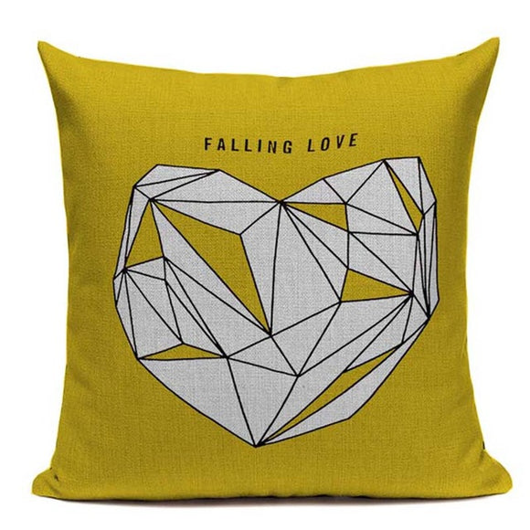 Fashionable Throw Pillow Cover Falling in Love with Heart 18 x 18 inch - Premium Pillow Store