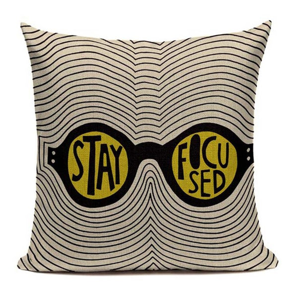 Fashionable Throw Pillow Cover Stay Focused 18 x 18 inch - Premium Pillow Store
