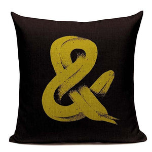 "Fashionable Throw Pillow Cover ""&"" 18 x 18 inch - Premium Pillow Store"