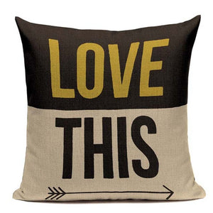 Fashionable Throw Pillow Cover Love This with Arrow Right 18 x 18 inch - Premium Pillow Store
