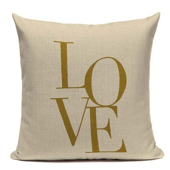 Fashionable Throw Pillow Cover LOVE  18 x 18 inch - Premium Pillow Store