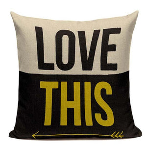 Fashionable Throw Pillow Cover Love This with Arrow Left 18 x 18 inch - Premium Pillow Store