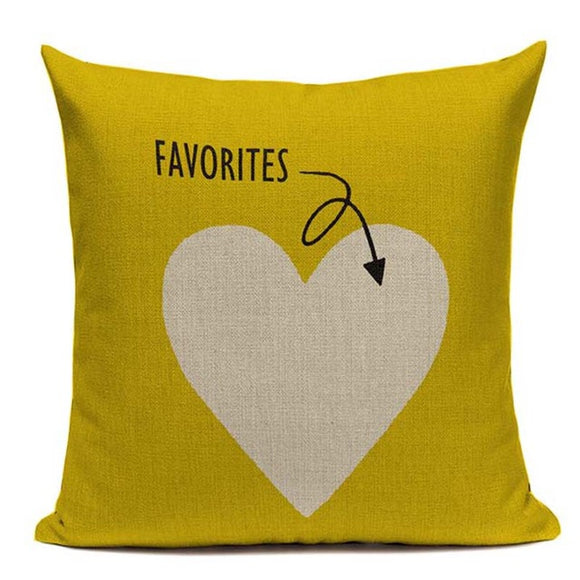 Fashionable Throw Pillow Cover Favorites Love Heart 18 x 18 inch - Premium Pillow Store