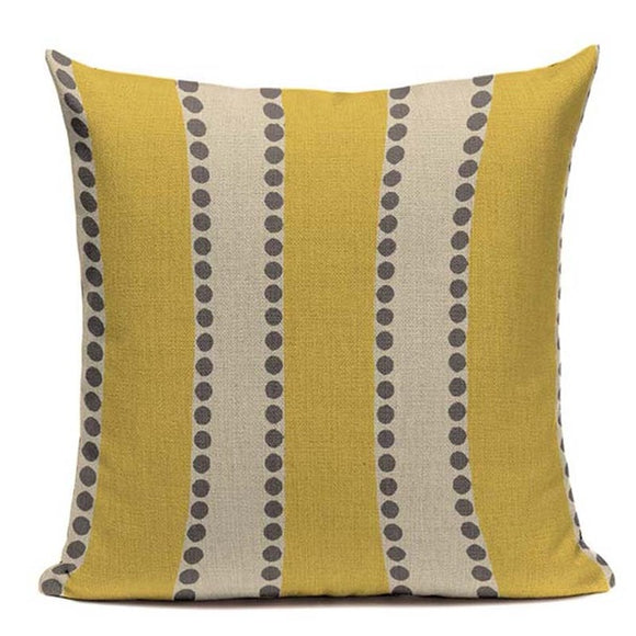 Fashionable Throw Pillow Cove Yellow and Brown 18 x 18 inch - Premium Pillow Store