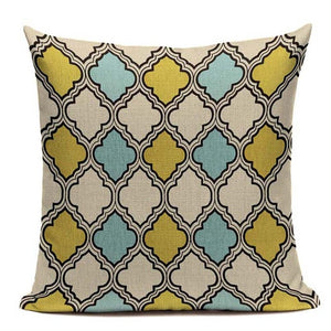 Fashionable Throw Pillow Cover Moroccan Style Print 18 x 18 inch - Premium Pillow Store