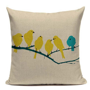 Fashionable Throw Pillow Cover Birds on a Branch 18 x 18 inch - Premium Pillow Store