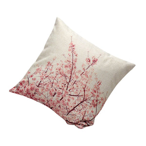 Cherry blossoms, Spring, Pink Flowers Pillow cover 18x18 - Premium Pillow Store