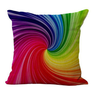 Colors of the rainbow color swirl, Pillow cover 18x18 - Premium Pillow Store