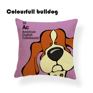 Colorful Cartoon Dog Print American English Coonhound 18 x 18 inch by Colorful Bulldog - Premium Pillow Store