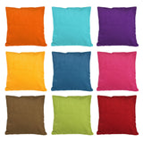 Solid Corduroy Sofa cushion pillow cover 18 x 18 inch - Premium Pillow Store