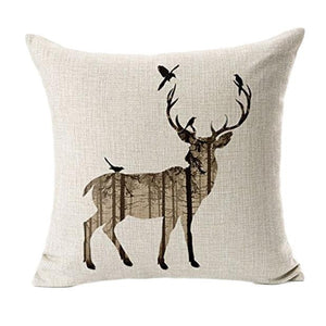 Home decor Deer silhouette Pillow Cover 18 x 18 inch - Premium Pillow Store