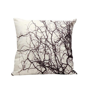 Decorative Linen Tree branch Pillow Cover 18 x 18 inch - Premium Pillow Store