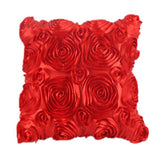 Decorative Satin Floral Fashion Throw Pillow Cover 16.5 x 16.5 inch - Premium Pillow Store