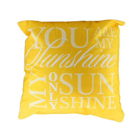 You are my sunshine yellow decorative Pillow Case 18 x 18 inch - Premium Pillow Store