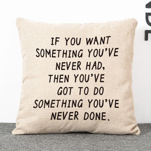 Motivational quote Square Pillow Cover 18 x 18 inch - Premium Pillow Store