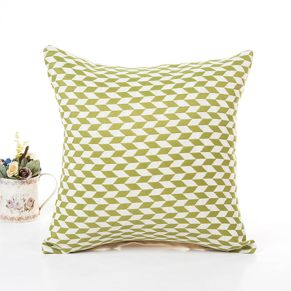Optical Illusion Checkered Seamless Pattern with Alternating Parallelogram Home Decor Pillow Cover