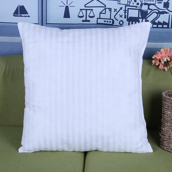 White Soft Striped Pillow Insert 18 x 18 - Premium Pillow Store