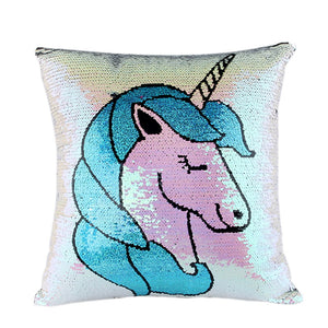 Unicorn Magic Reversible Sequins Glitter Pillow cover 16x16 - Premium Pillow Store