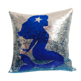 Mermaid Magic Reversible Sequins Glitter Pillow cover 16x16 - Premium Pillow Store