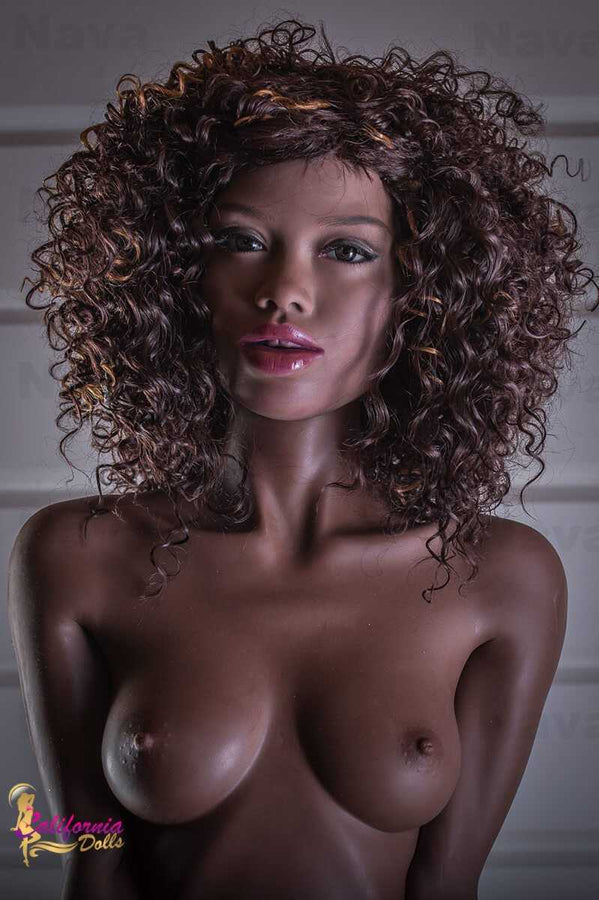 black sex doll with beautiful face and firm perky breast.