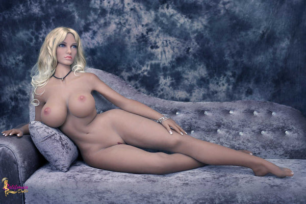 Naked sex doll with sexy, curvy body.