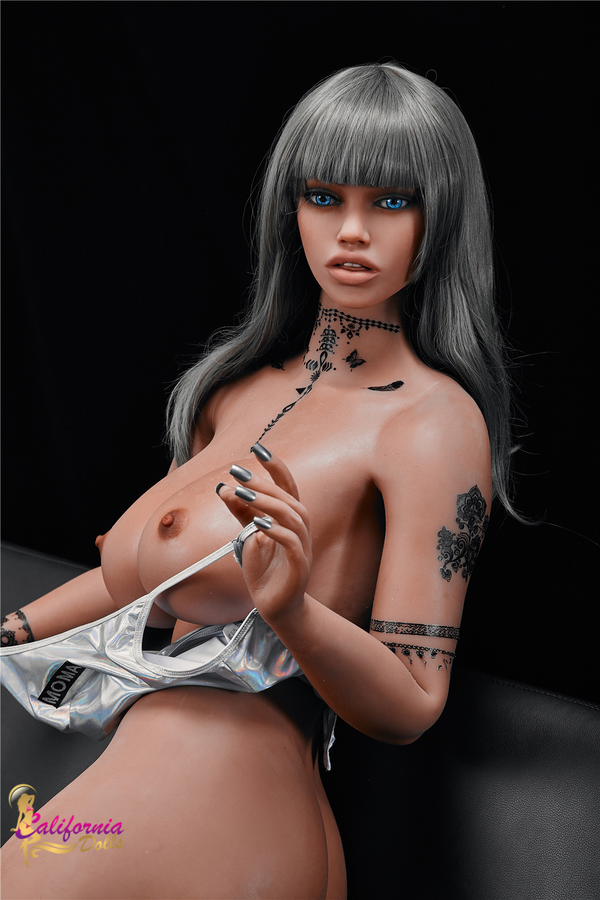 Black sex doll with gorgeous facial features.