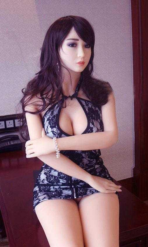 Japanese sex doll in a short dress.