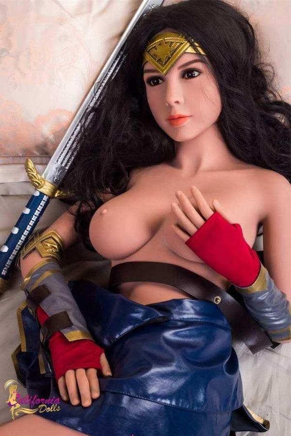 Young sex doll wears middle ages warrior outfit.