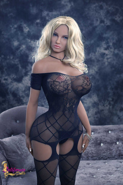 Tall sex doll and skimpy black lingerie.