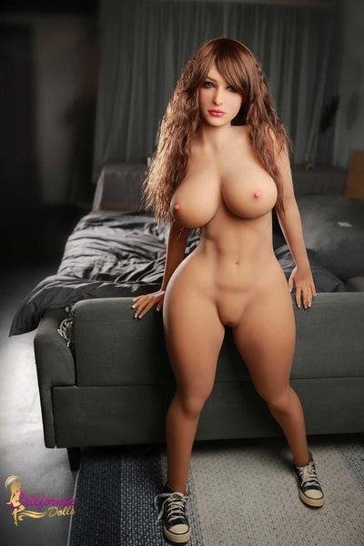 Nude photo of sex doll standing.