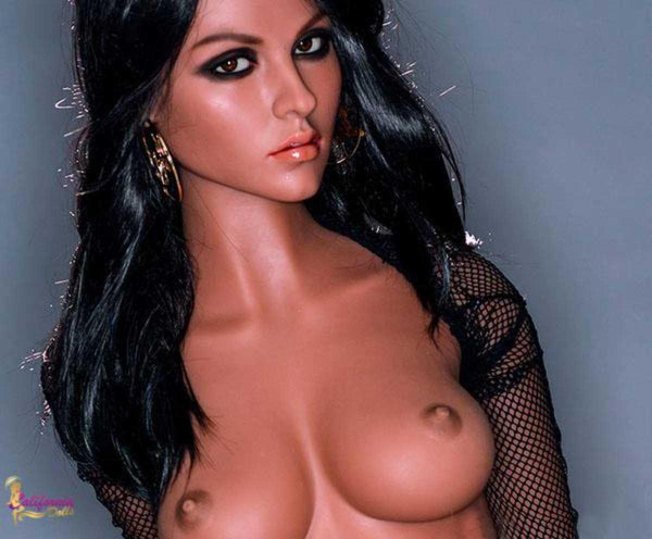 Sex doll with beautifully sculpted facial features.
