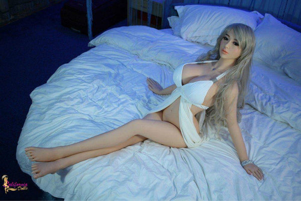 Sex doll with long toned legs.