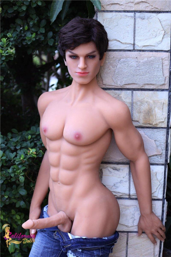 Man sex doll with long erect penis.