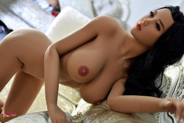 Tall Japanese sex doll with perky pink nipples.
