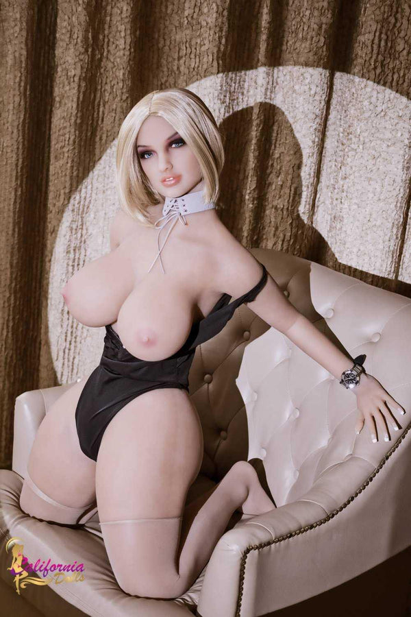 Large pointed breast on sex doll