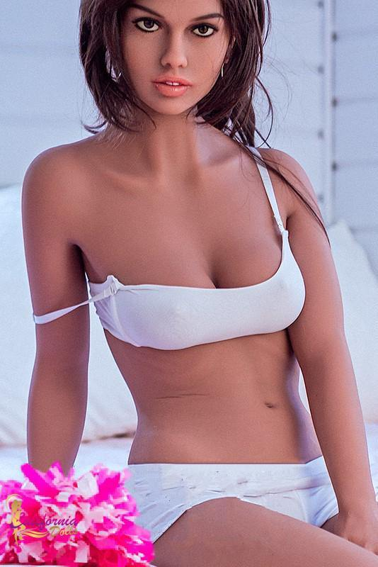 Pretty sex doll in white underwear.