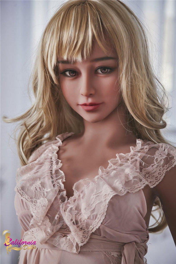 Love doll with pretty face and brown eyes.