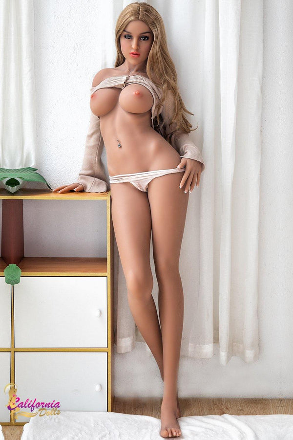 Teen love doll with youthful curvy body.