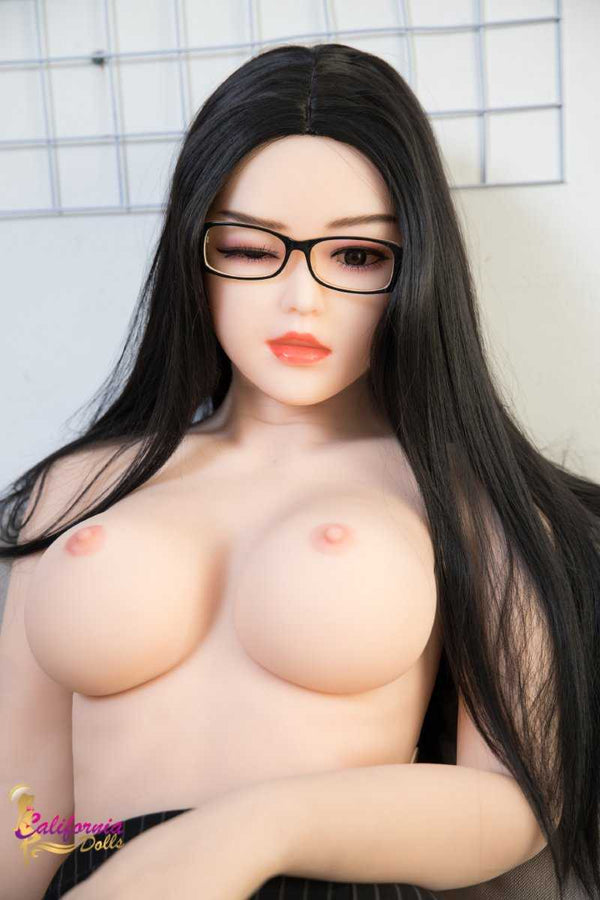 Sex Robot love doll with cute red lips.