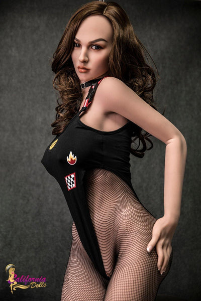 New Arrivals Long curly brunette sex doll Mia from California dolls