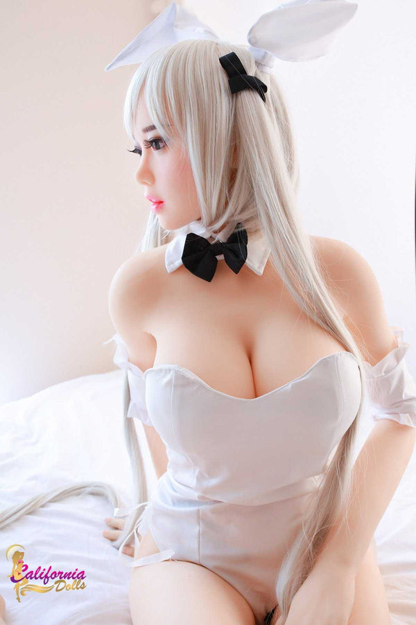 Real sex doll with natural looking shin and body.