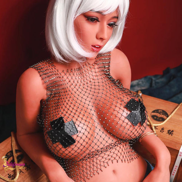 Mesh top on sex doll.