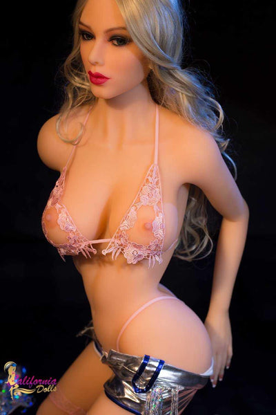 Hot sex doll with sexy pink bra and thong.
