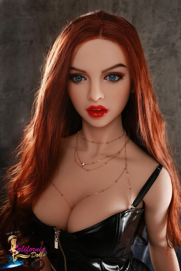 Gorgeous lovely sex doll wears a beautiful necklace around her neck