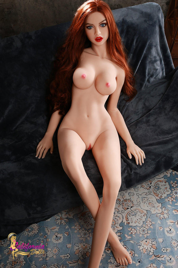 Naked skinny girl has small boobs and long legs