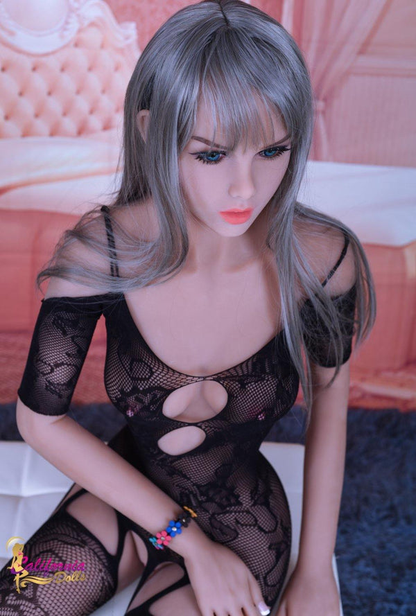 Love doll and lovely black grey hair.